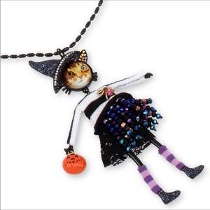 🆕BETSEY JOHNSON CAT WITCH BOO 2 U NECKLACE